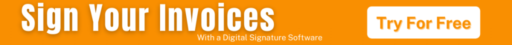 Sign Invoices