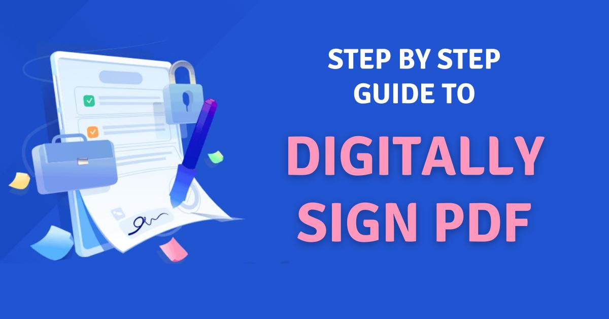 digitally sign PDF