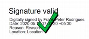 Text Signature Sample